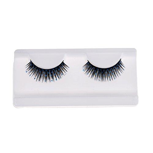 Gazechimp Unechte Wimpern für Augen Make-up, Verfassungswerkzeug - Künstliche Wimpern für Wimpernverlängerung Halloween Kostüm - blue spots