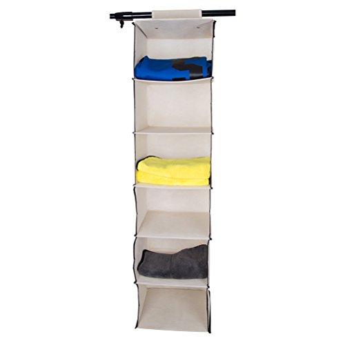 Organizador colgante con 6estantes para colgar y almacenar sujetadores, jerseys y otro tipo de ropa