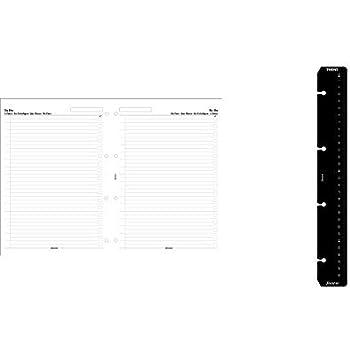 Filofax 293609 A4 Ruler page marker black