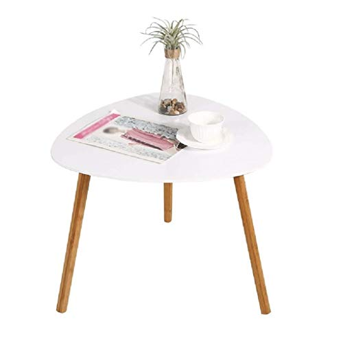 JXXDDQ Dreieck-Beistelltisch, Kaffeetisch mit festen Kiefernbeinen, Dekor-Beistelltisch-Dreieck-Stand-Teetisch für Wohnzimmerhaus und Büro (Color : 40x40x40cm White) (Aktenschrank Beistelltisch)
