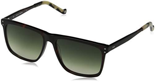 Hackett London Herren Bespoke Sonnenbrille, Braun (Torf/Green), 57.0