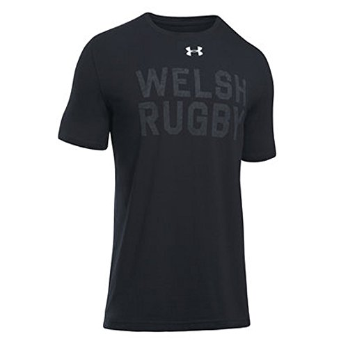 Under Armour Wales WRU 2017/19 Graphic Rugby T-Shirt - Black