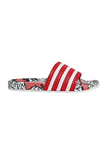 Adidas Adilette W, Damen Dusch- & Badeschuhe,Rot (Scarlet/Off White/Scarlet), 44 1/2 EU