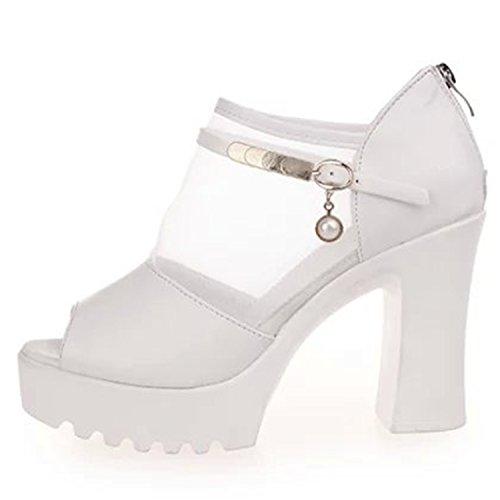 Azbro - Scarpe peep toe Donna Black