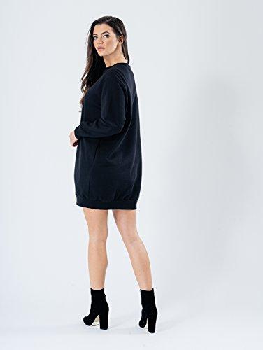 Momo&Ayat Fashions -  Felpa  - Donna Black