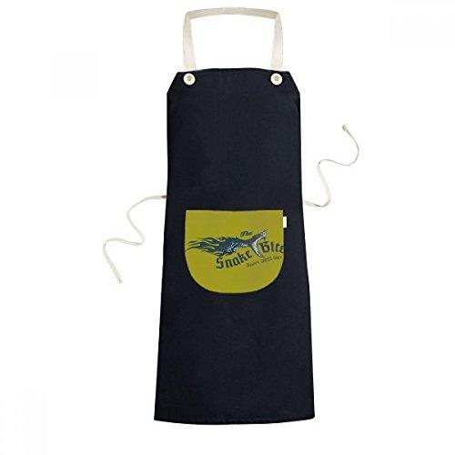 beatChong Tier Illustrarion Biss-Schlange-Muster Kochen Küche Schwarz Einstellbarer Latzschürze Taschen Frauen Männer Chef-Geschenk (Männer Schlange Beißt)