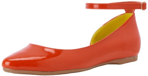 CL By Laundry Bianca Femmes Synthétique Chaussure Plate Sweet Orange
