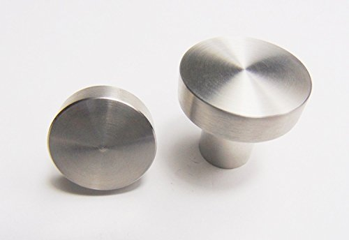 GedoTec® Design Möbelknopf Edelstahlknopf Türknopf TELLAS rund | Ø 25 mm – Höhe 24 mm | Schrankknopf Edelstahl matt gebürstet | Markenqualität für Ihren Wohnbereich - 3