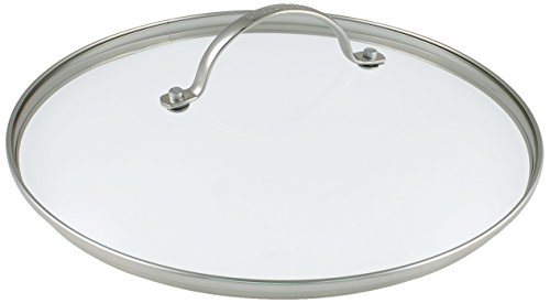 Greenpan 30 cm Tempered Glass with Stainless Steel Rim Univesal Glass Lid with Metal Handle