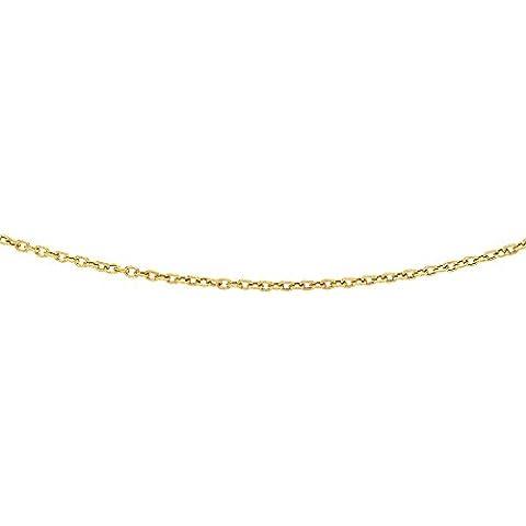 Spazzola in oro giallo 14ct collana ovale link–Lunghezza Opzioni: 414651
