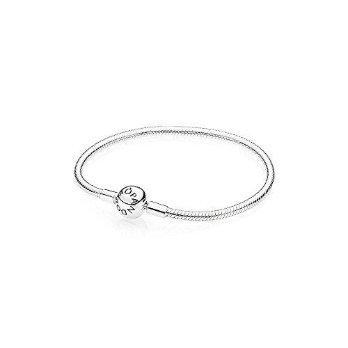 Pandora590728 -bracciale da donna con chiusura a sfera, liscio, in argento 925, argento, colore: argento, cod. 590728-16