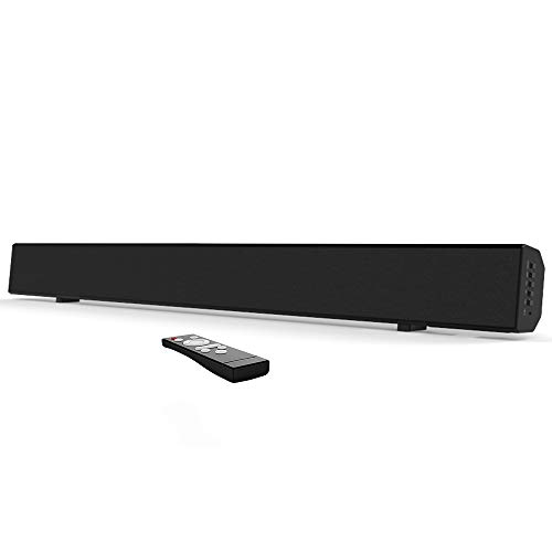 Meidong TV Sound Bars with Bluetooth Wireless & Wired 2.0 Channel Home Theater soundbar Speaker Surround with 30inch/Optical/RCA/AUX/Remote Control 【Update】
