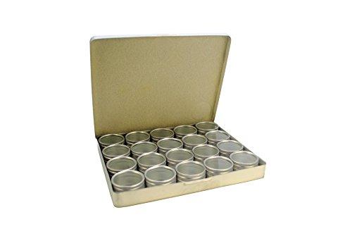 Proops 10x Aluminium 12klar Aufbewahrungsboxen in Tablett, 30mm Dia Töpfe. Perlen, Ergebnisse, Jump Ringe (s7780) versandkostenfrei innerhalb UK (Dia-aufbewahrungsbox)