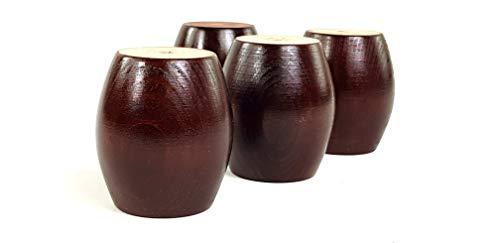 Knightsbrandnu2u Möbelfüße aus Massivem Holz, 75 mm hoch, für Schubladen, Schränke, Bücherregale, Vorhangeinheiten, Kleiderschränke, Gewindeschraube, RJB108