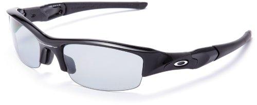 Oakley Flak Jacket Jet Black w/Light Grey Polarized (Asian Fit) Sunglasses (12-900J)