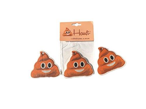 Haufi® Emoji Lufterfrischer Wunderbaum Duftbaum Kackhaufen, 3 Stück