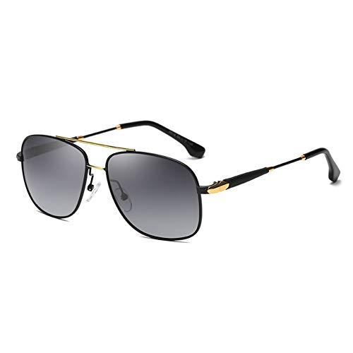 Thirteen Polarisierte Sonnenbrille Männer Fahren Sonnenbrille Mode Sonnencreme Großen Rahmen Spiegel Freizeit Fahren Anpassbare Myopie Sonnenbrille (Farbe : Black frame)
