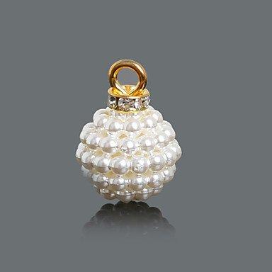 MJW&XL Damen Anhänger Charme Kreisform Geometrische Form Round Shape Perle vergoldet Kunststoff Diamantimitate Modisch Schmuck Für Alltag