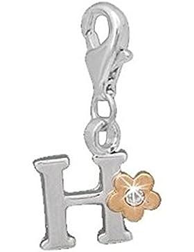 Charm Anhänger Alphabet Buchstabe mit Glitzerstein H