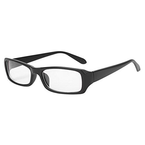 Brille modisch ohne sehstärke unisex für Frauen und Männer clear fashion schmal Rahmen Strahlenschutz UV Schutz Verschiedene Farben mit Brillenetui