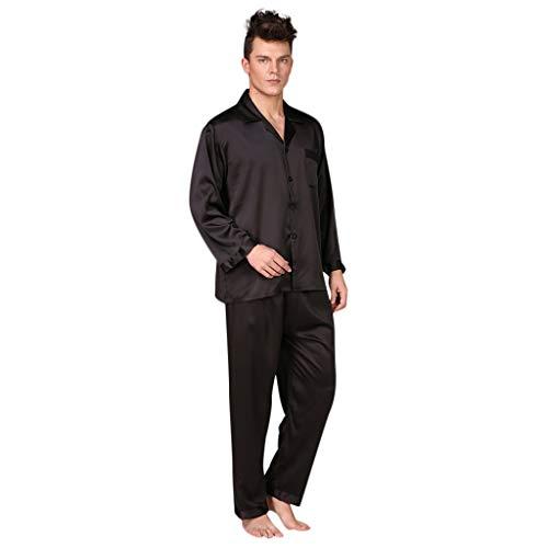 Männer Schlafanzüge Solid Color Yoga Outfit Bedrucktes Homewear Print Pyjama Set Casual Komfort Leichte Indoor Schlafanzug Bekleidungsset Lange Hose 2 Stück Set -