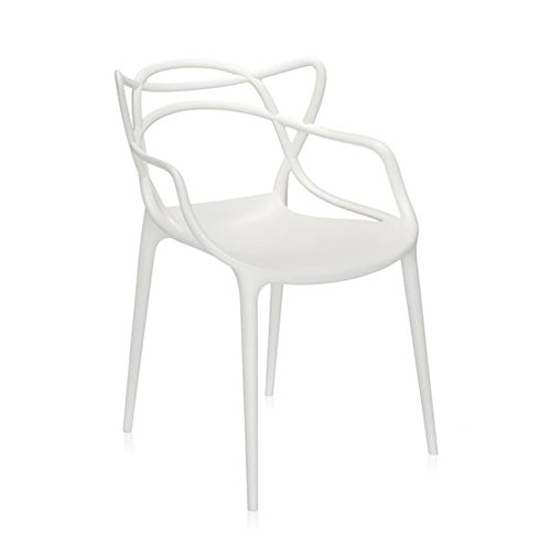 Master Dining Chair in White by Kartell