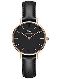 Daniel Wellington Damen-Armbanduhr Analog Quarz One Size, schwarz, schwarz