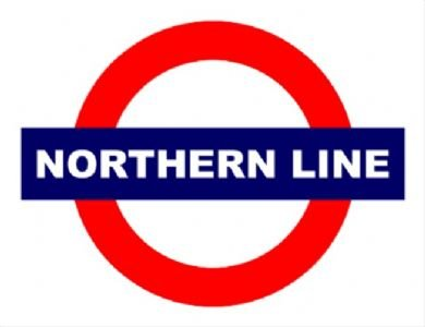 2020 EXTRA LARGE NORTHERN LINE DEL METRO METAL PUBLICIDAD SIGNO DE PARED RETRO ART