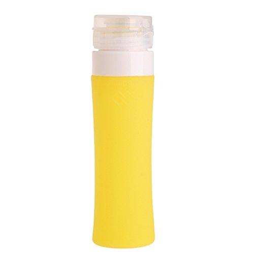 30 Ml Bad (Unbekannt wfz1730-60ml 7Farben Tragbarer nachfüllbar Weich Silikon Reise Flasche Lotion Bad Shampoo Behälter, Gelb, 60 ml)
