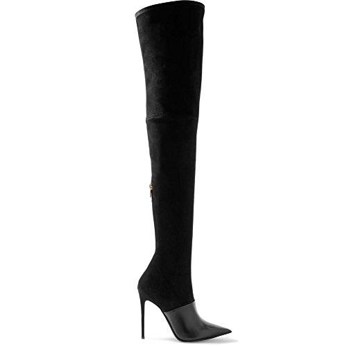 1eed1f9b0a4fa L @ yc Chaussures Femmes Suede Confort Nouveaux Produits Bottes Bout Pointu  Genou Bottes