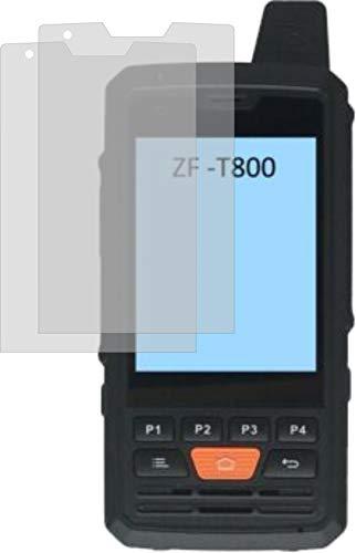 4ProTec 2X ANTIREFLEX matt Schutzfolie für Zello ZF-T800 POC Funkgerät Displayschutzfolie Bildschirmschutzfolie Schutzhülle Displayschutz Displayfolie Folie