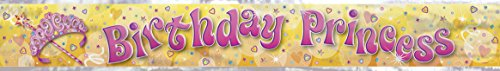 Unique Party Supplies 12 ft Folie Pretty Princess Geburtstag Banner