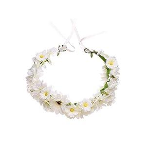 Haarschmuck, Blumenkranz, Kunstblume, Weiß