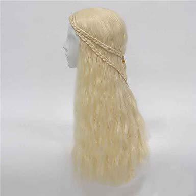 FUHOAHDD Kunsthaar heißen Film die gleiche Art Perücke Lange Welle Cosplay Perücken Klassische Haar