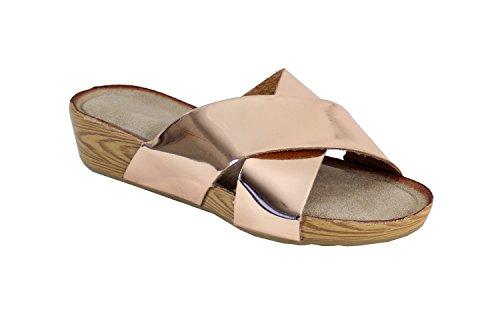 Por Sapatos - Damen Champanhe Räumschuh
