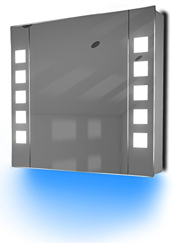 Antibeschlag-Spiegelschrank Bad Raumbeleuchtung, Sensor & Rasiersteckdose K63B