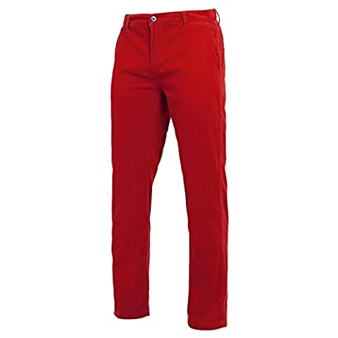 Men's Chino Classic Regular Fit Soft Finish Fabric Trousers Pants By Asquith & Fox (Medium / Tall, Cherry Red)