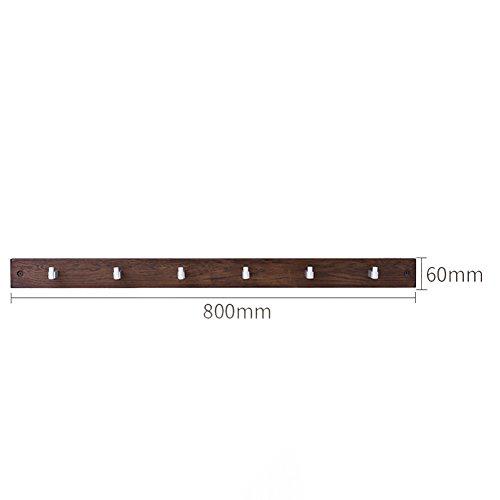 Semplice appendiabiti da parete in legno massello appendiabiti da parete in rovere appendiabiti da parete semplice appendiabiti (colore : a, dimensioni : 6 hooks)