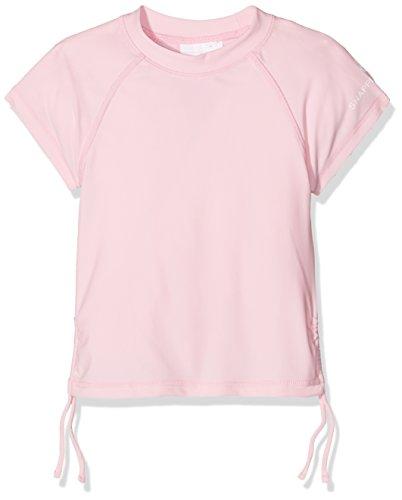Snapper Rock Mädchen UPF 50+ Sonnen und UV Schutz Schwimmshirt kurzer Arm Rash Top für Kinder & Teenager, Ballet Rosa, 5-6 jahre, 116-122cm (Rash Mädchen Guard Kleinkind)