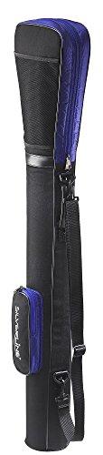 Sac de golf Bag Pencil avec capot de protection intégrée et poche extérieure en noir/bleu roi