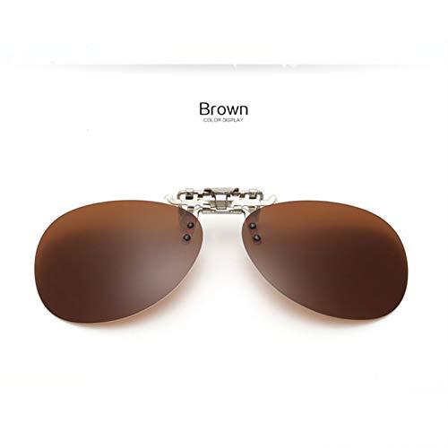 GJYANJING Sonnenbrille Polarisierte Sonnenbrille Männer Nachtsichtbrille Retro Männlichen Clip On Sunglass Frauen Frameless Flip UpBrillen