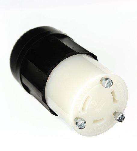 Leviton 264330Amp, 480Volt, NEMA L8-30R, 2P, 3W, Locking Connector, Industriequalität, Erdung-Schwarz-Weiss - 480v 30 Amp