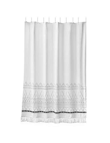 HURONG168 Duschvorhang Liner WC-Trennwand wasserdicht verdickender Mehltau-Duschvorhang (Size : Tassel 150 * 205cm) (Tassel Duschvorhang)