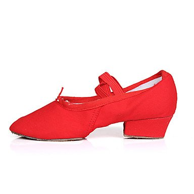 Zapatos De Baile-damas-salsa-bajo-satén-negro / Rosa / Rojo Negro