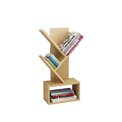 LQ Buchstand, Baum Förmiger Boden Buchständer Einfaches, Modernes Wohnzimmer-Abstellregal,A