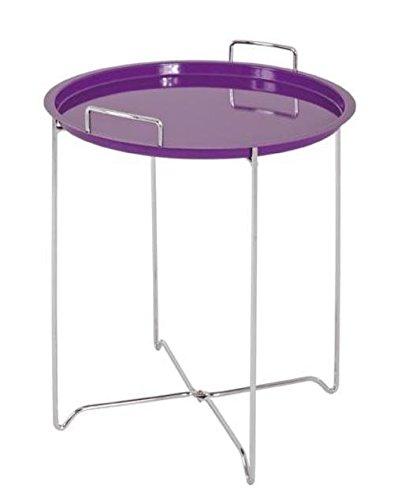 Haku table d'appoint en acier chromé et plateau en violet, abnEinhebelmischer 33080 bar