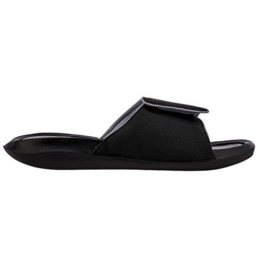 5a43a2612 Nike Mens Jordan Hydro 6 Black Grey Synthetic Sandals 41 EU