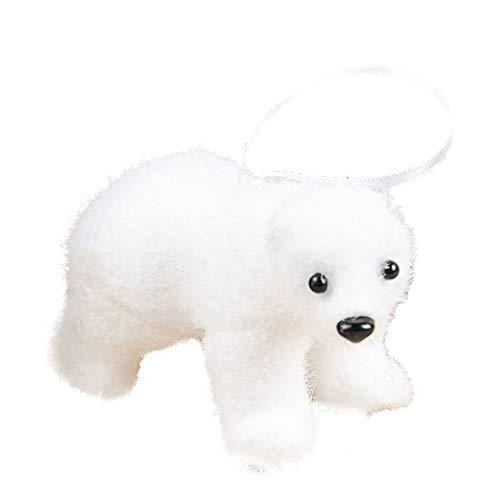 BESSKY 1 Pcs Xmas Tree Pendant White Cute Bear Deer Foam Kids Gift Home Tier-Blasenverzierung des Weihnachtsbaums hängende weiße Karikatur (White Tree Xmas)