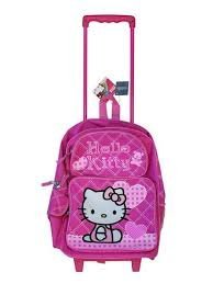 Rosa Herzen Hello Kitty Rolling Rucksack – Pink Hello Kitty Gepäck mit Rädern (Rolling Kitty Luggage Hello)