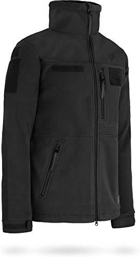 normani Tactical Fleecejacke Delta-Jacke mit 3-lagiger, atmungsaktiver Membran und Patchfläche am Arm Farbe Schwarz Größe 5XL